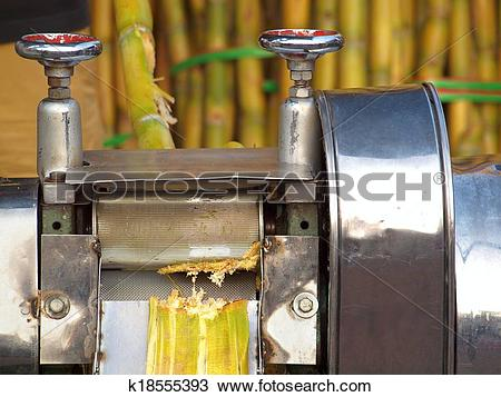 Stock Photo of Sugar Cane Juice Press k18555393.