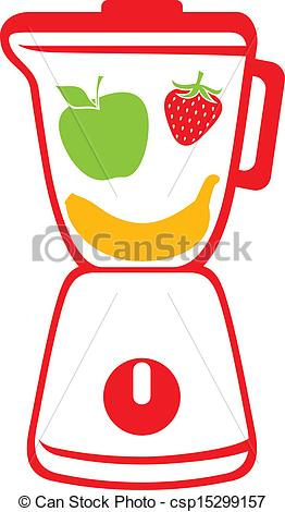 Clipart Vector of blender (vector icon blender, mixer with fresh.