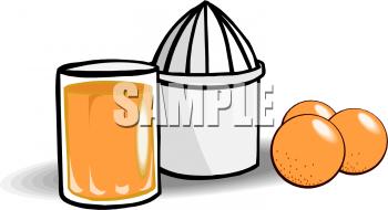 Orange Juicer Clipart Picture.