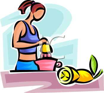 Woman Juicing a Lemon.