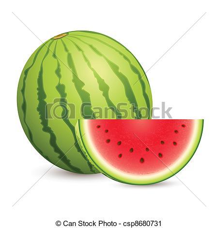 Vector Clip Art of Juicy Water Melon.
