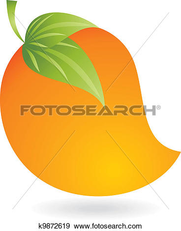 Clip Art of Vector juicy mango k9872619.