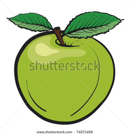 Juicy green apple..