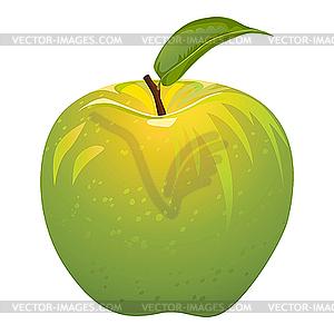 Juicy green apple.