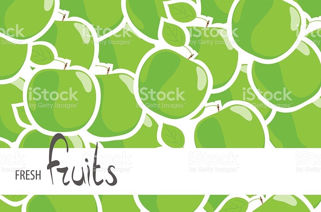 Juicy Green Apples stock vector art 618461304.