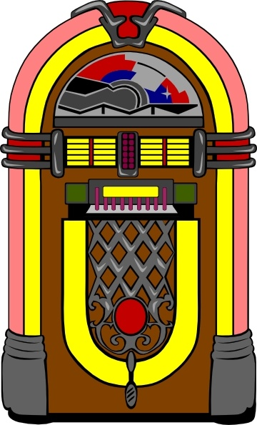 Fifties Jukebox clip art Free vector in Open office drawing svg.