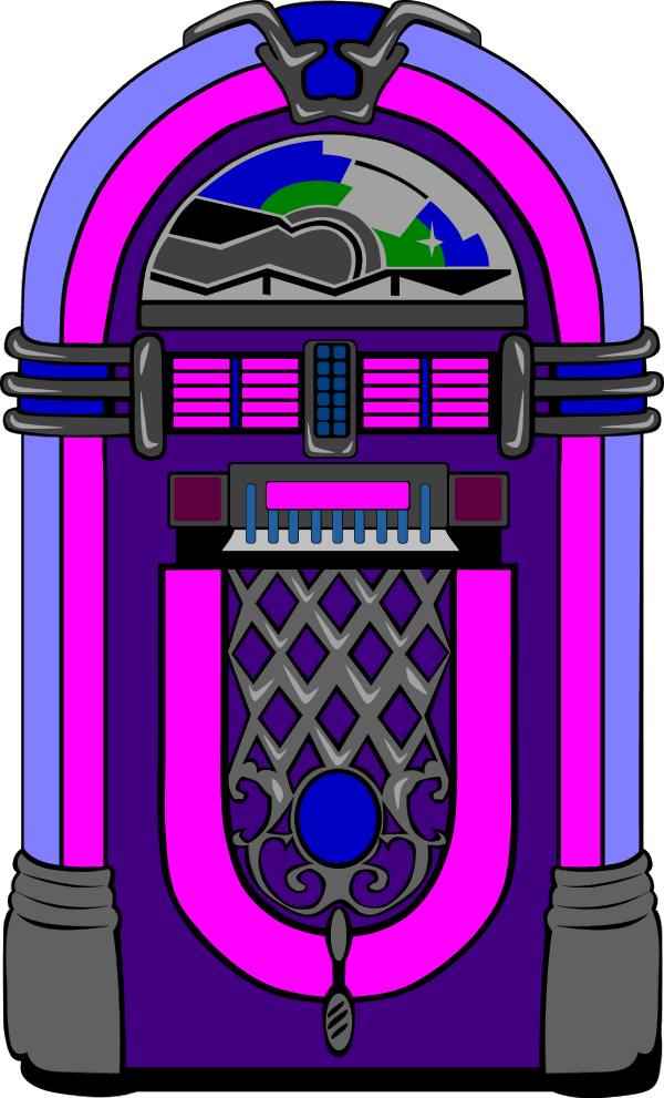 50s Jukebox Clipart.