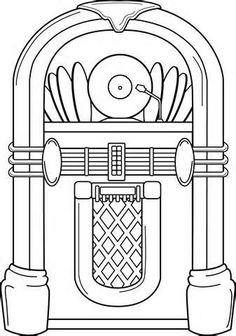 Jukebox clipart.