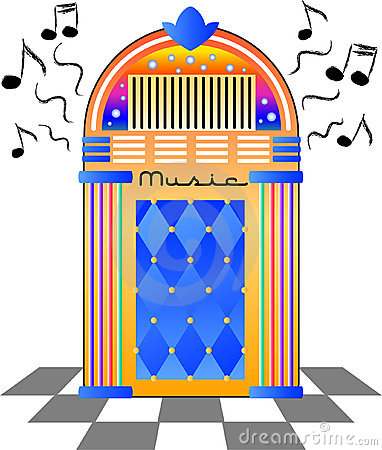 Jukebox Stock Illustrations.