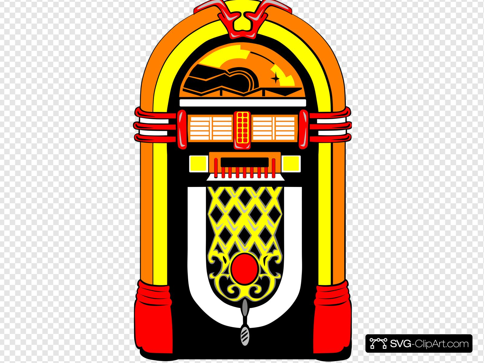 Nostalgic Jukebox Clip art, Icon and SVG.