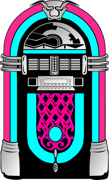 1950's Jukebox Clipart.