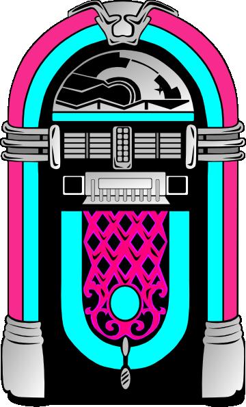 1950's Jukebox Clipart.