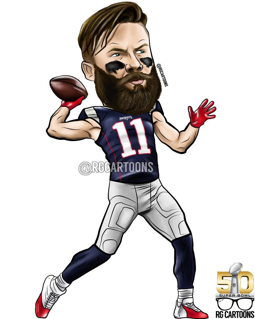 Julian Edelman Cartoon.