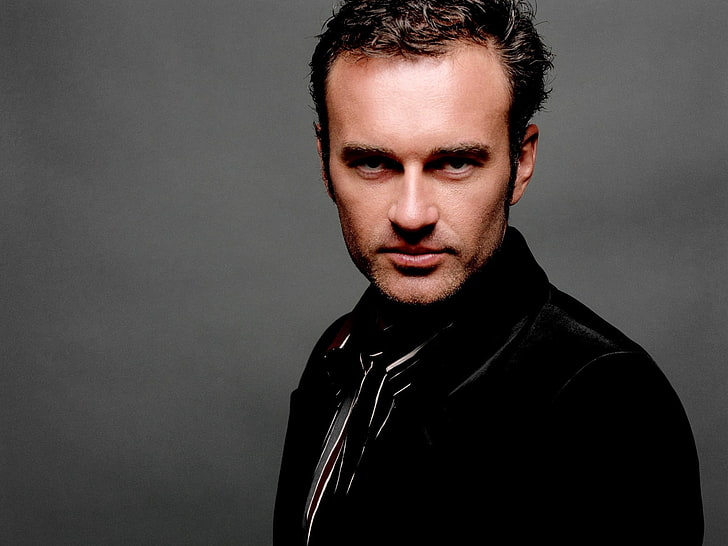 HD wallpaper: men\'s black leather jacket, julian mcmahon.