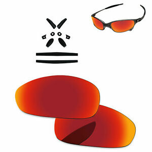 Details about Black Rubber Kit + Fire Red Polarized Replacement Lenses  For.