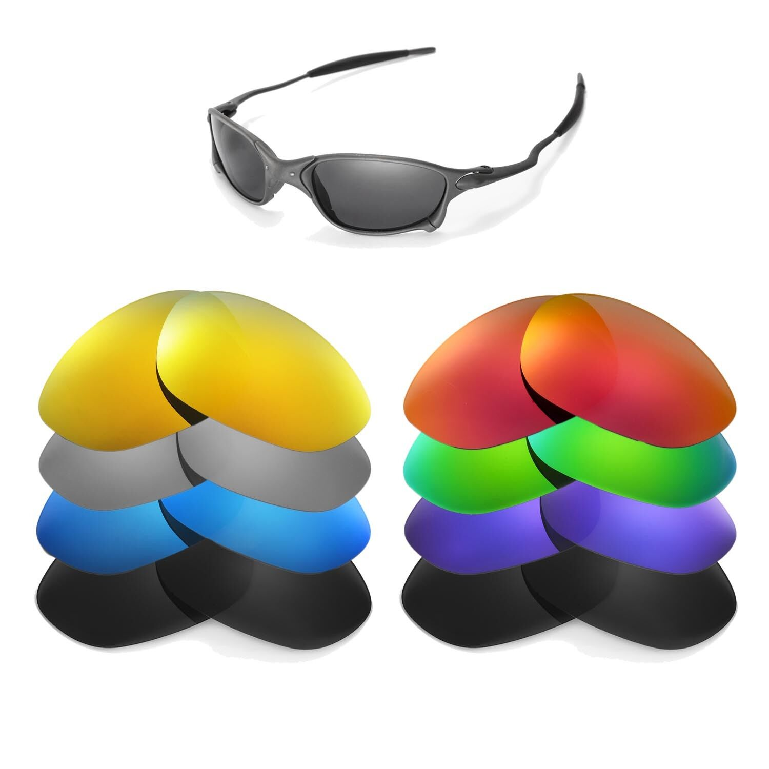 Walleva Replacement Lenses for Oakley X Metal XX Sunglasses.