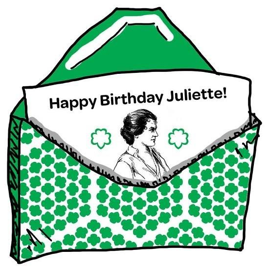 What did Juliette Gordon Low do to celebrate her birthday.