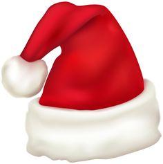 Santa hat clipart maroon.