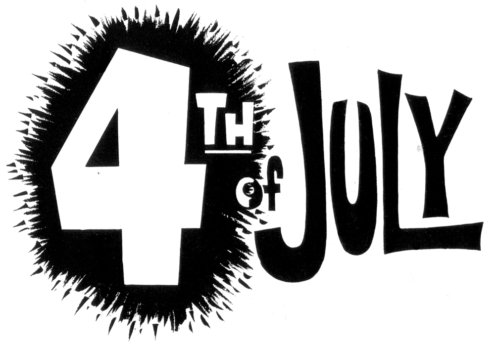 Free 4th July Black & White Clipart.
