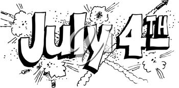 4th of july black and white clipart 2 » Clipart Station.