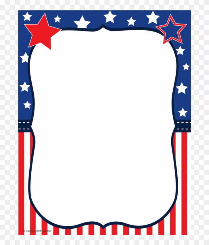 Tcr Patriotic Computer Paper Th Of July Borders Clipart.