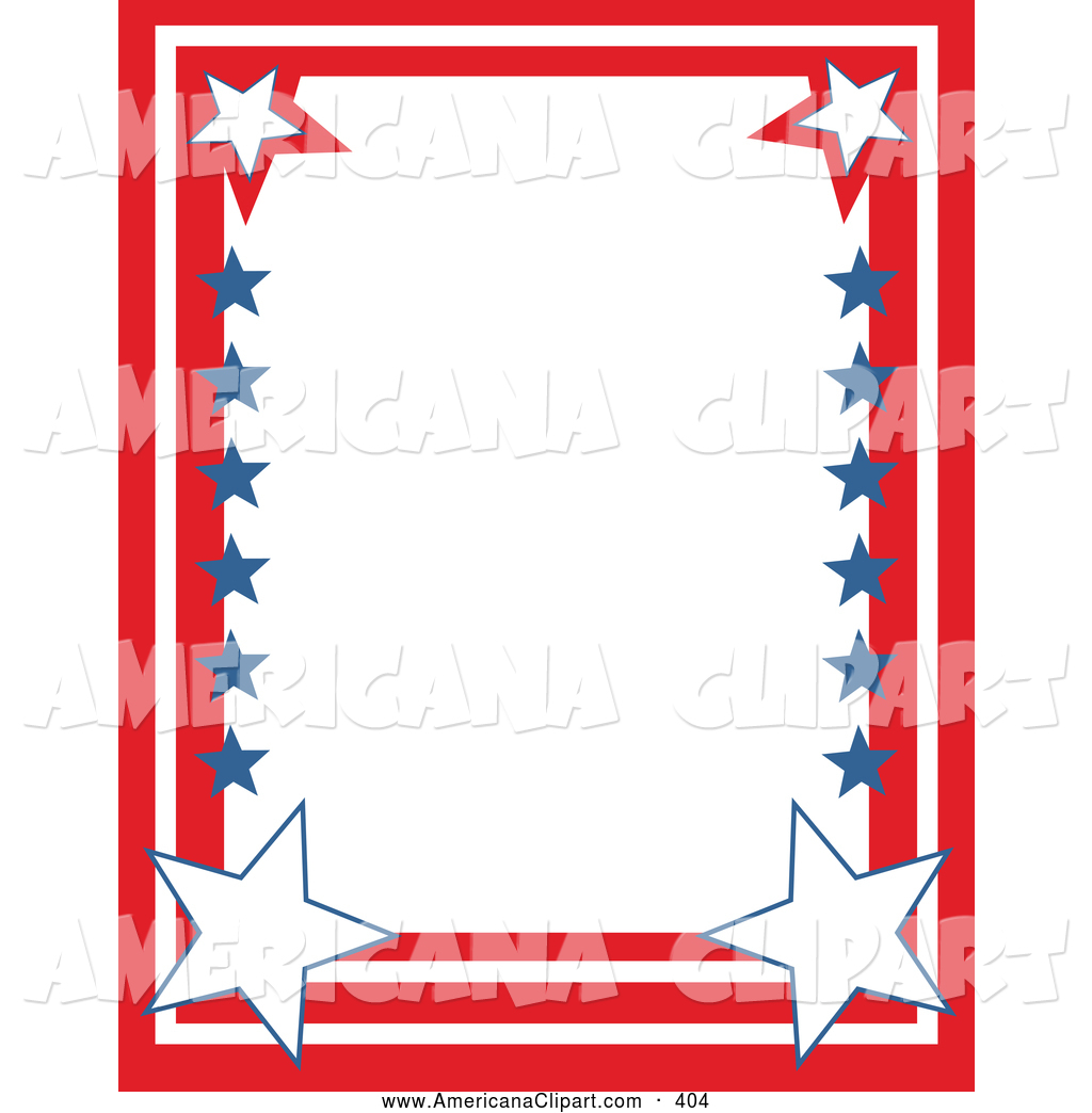 Red White And Blue Clipart Borders.