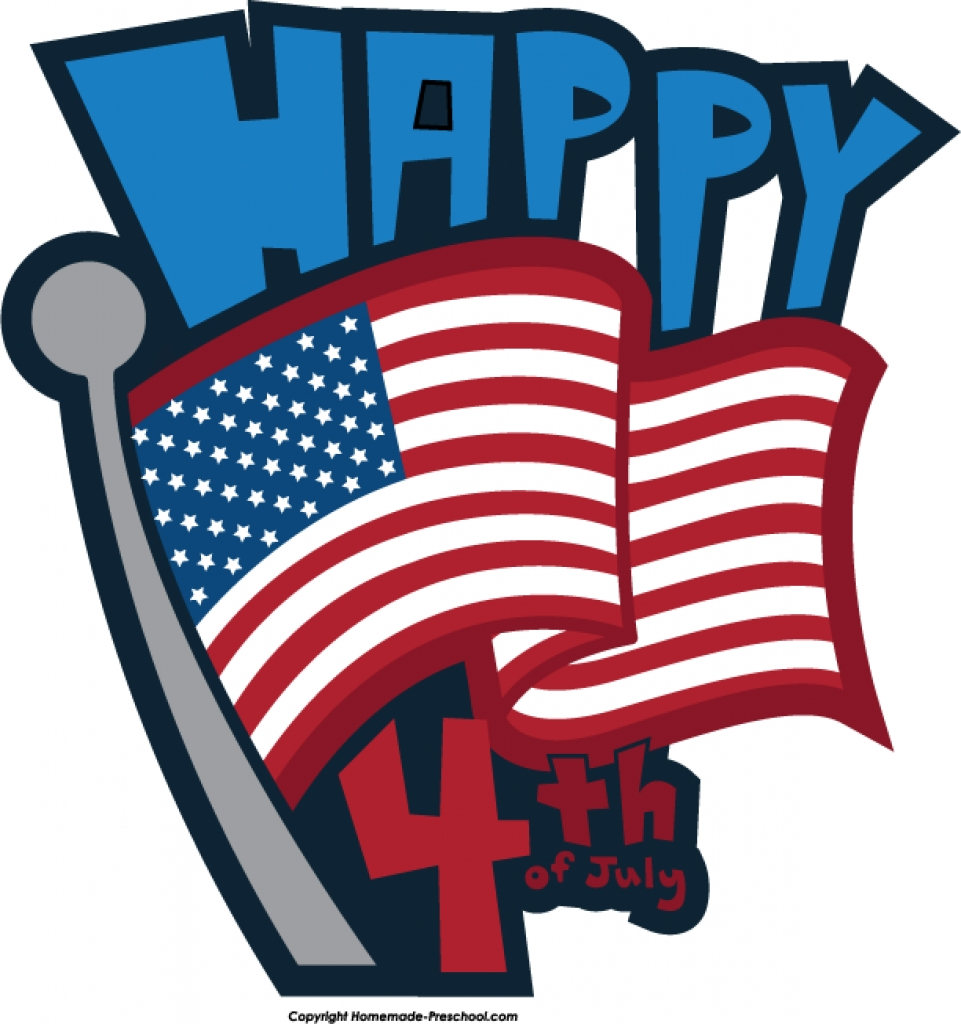 fourth july a independence day free clip art happy july 4th text.
