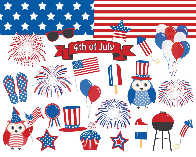 July fourth clip art.