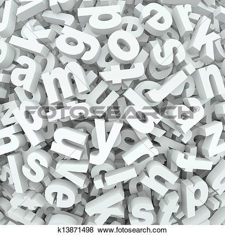 Stock Illustration of Letter Jumble Background Alphabet Words.