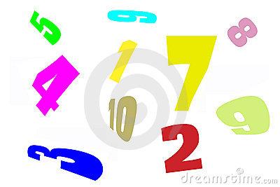 Number Jumble Stock Illustrations.