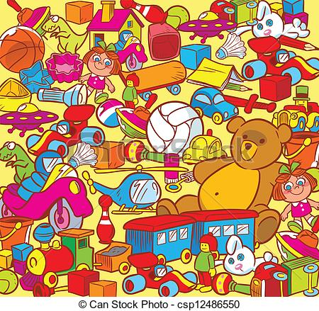Clipart Vector of child's play.