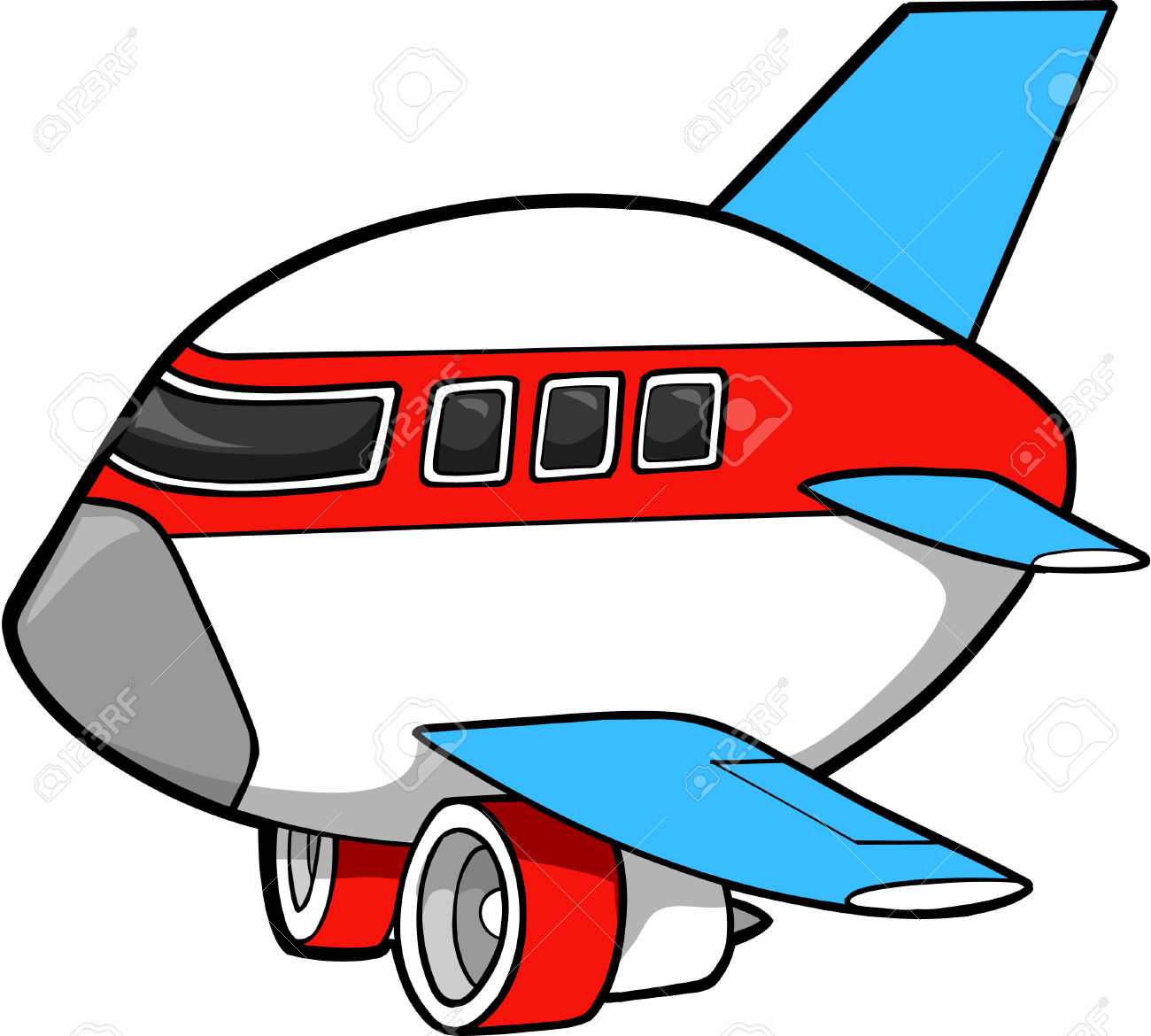 Jumbo Jet Vector Illustration Royalty Free Cliparts, Vectors, And.