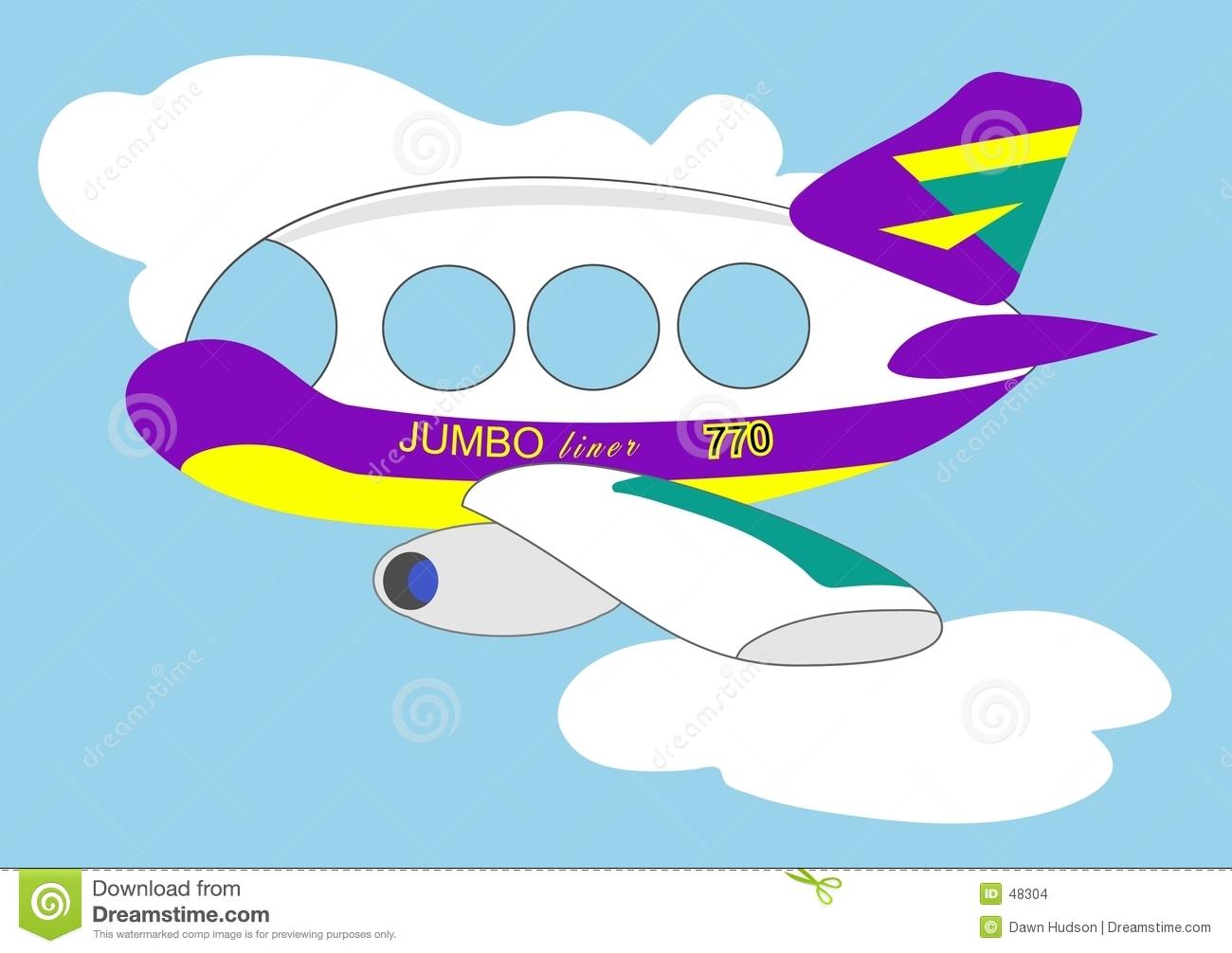 Jumbo Jet Clipart.