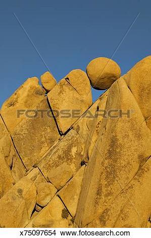 Stock Photo of Jumbo Rocks, granite formations and balancing rocks.