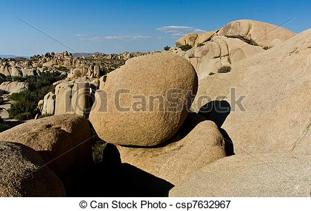 Picture of scenic washed out Jumbo rocks in the National Park in.