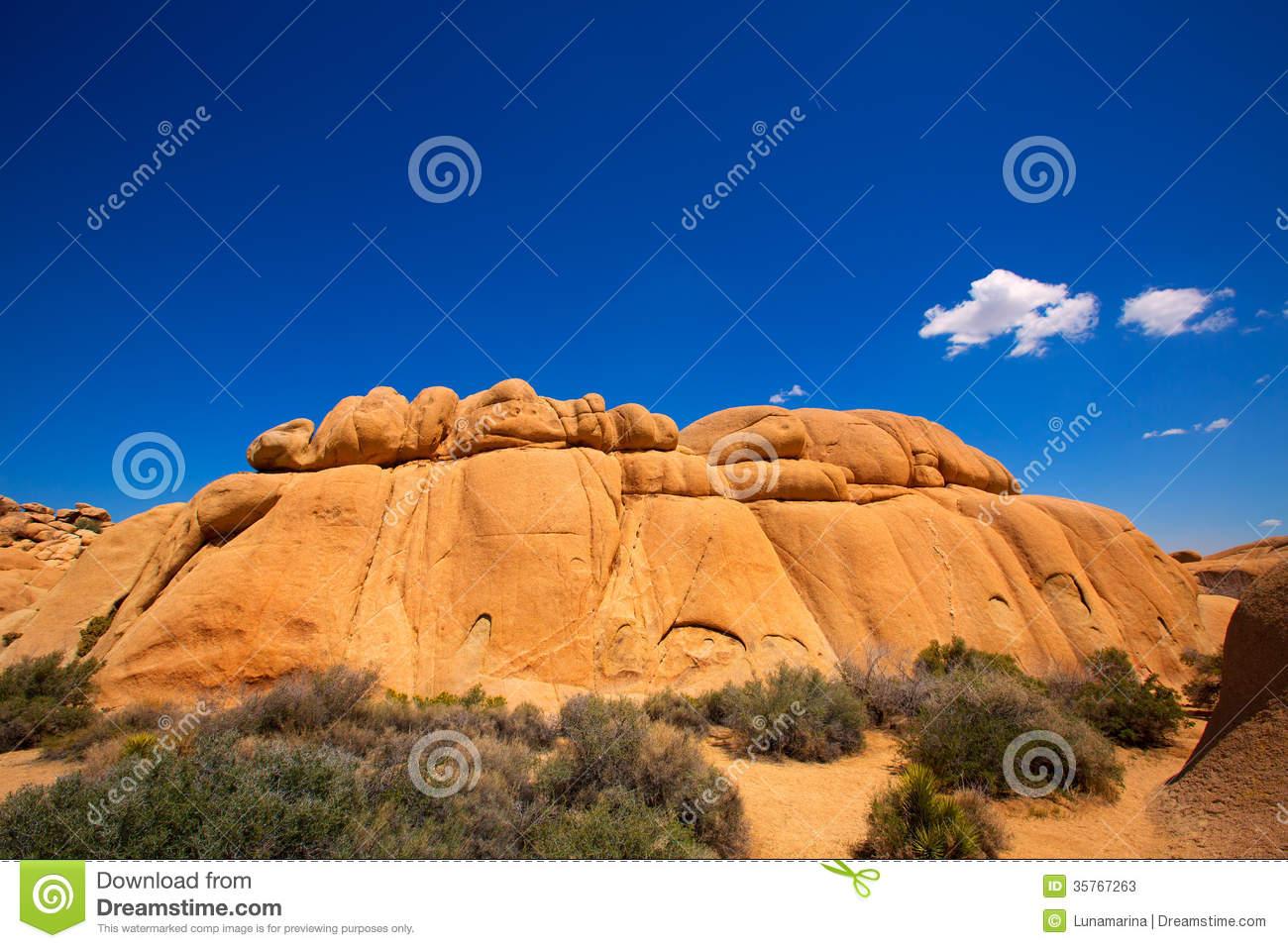 Joshua Tree National Park Jumbo Rocks Yucca Valley Desert Califo.