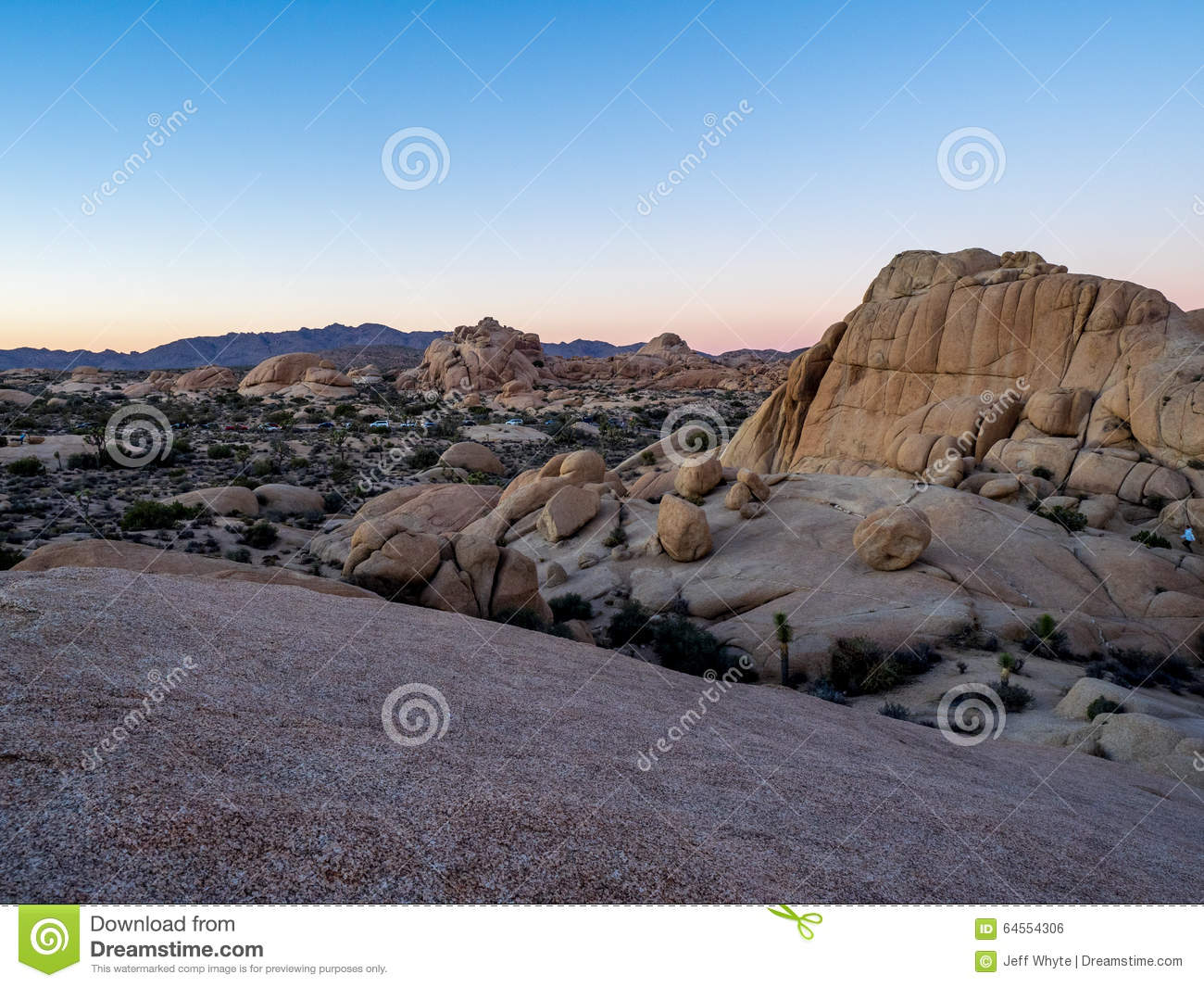 Rocks In Joshua Tree National Park Stock Photos.
