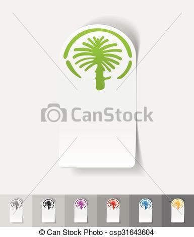 Vector Clipart of realistic design element. palm Jumeirah.