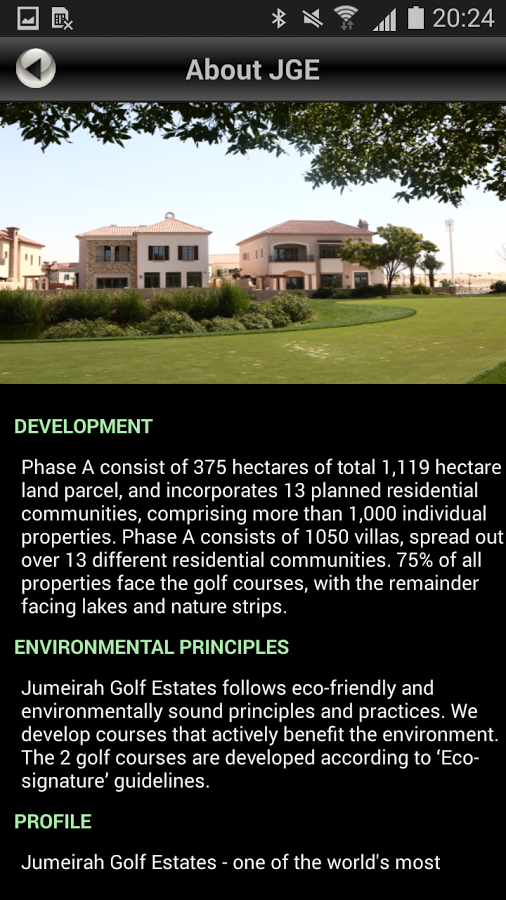Jumeirah Golf Estates.