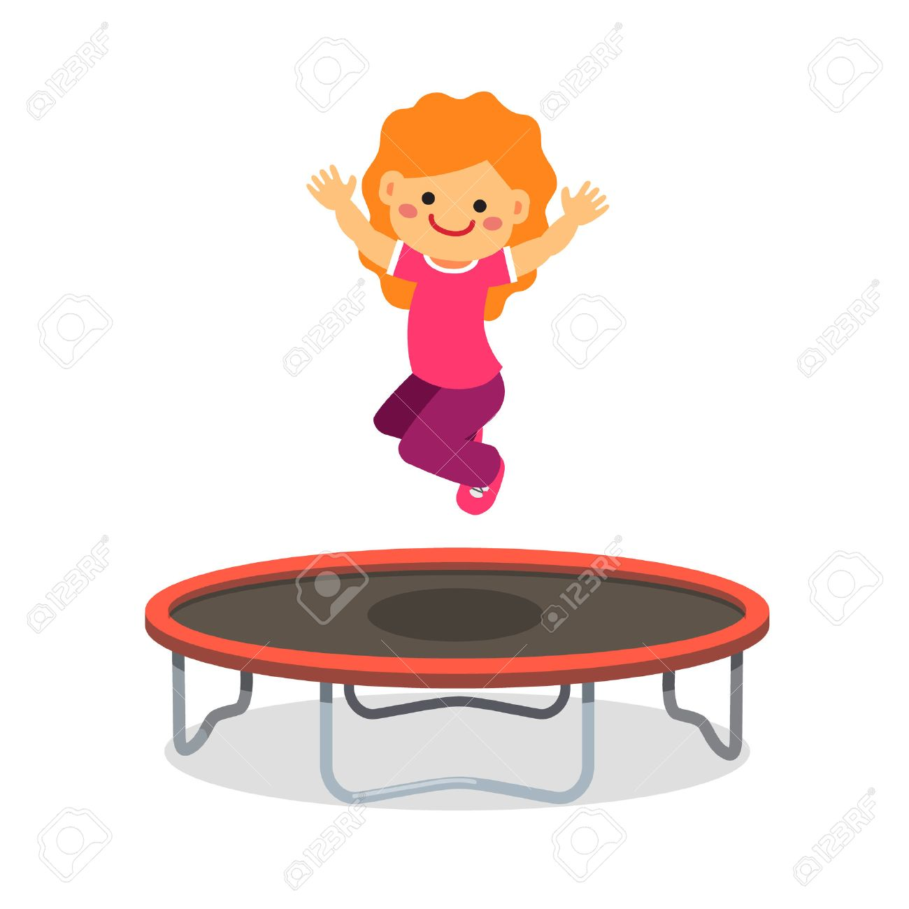 1,977 Trampoline Stock Vector Illustration And Royalty Free.