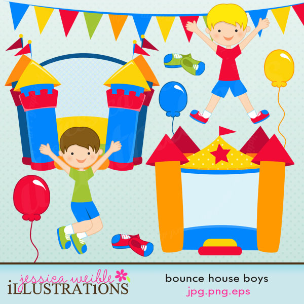 Bounce House Boys comes with 10 graphics including: 2 inflatable.