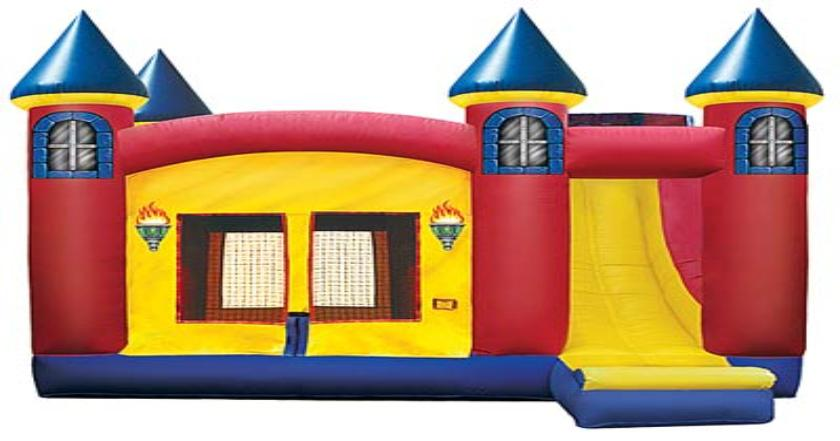 Bounce House And Slide Clipart.