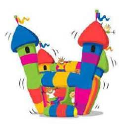 Similiar Bounce Houses Clip Art For Invitations Keywords.