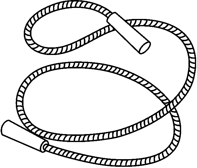 Black and white jump rope clipart » Clipart Portal.