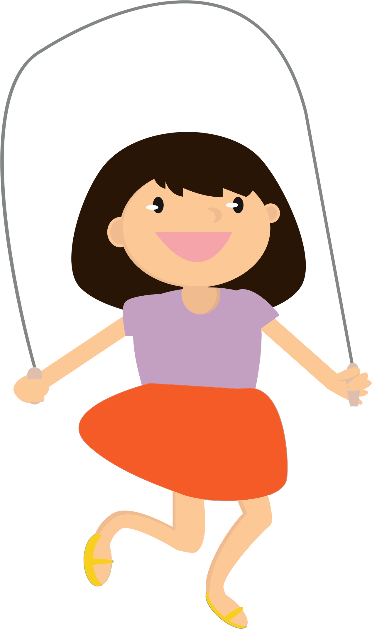 Girl clipart jumping rope, Girl jumping rope Transparent.