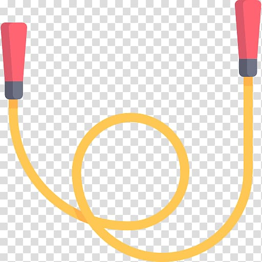 Yellow and red jump rope illustration, Skipping rope , rope.