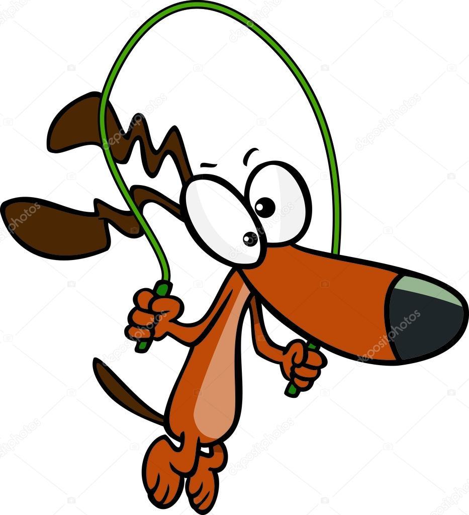 Cartoon Dog Jumping Rope — Stock Vector © ronleishman #13983824.