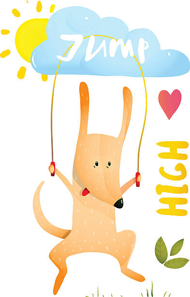 Dog Jump Rope Clip Art, Vector Images & Illustrations.