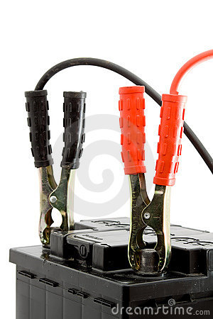 Car Battery Jump Start Royalty Free Stock Images.