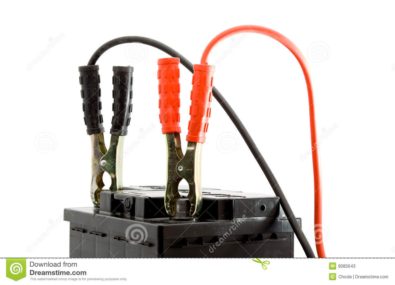 Car Battery Jump Start Royalty Free Stock Photo.